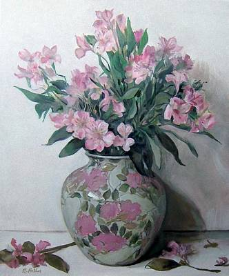 Painting - Alstroemeria In Floral-design Vase by Robert Holden