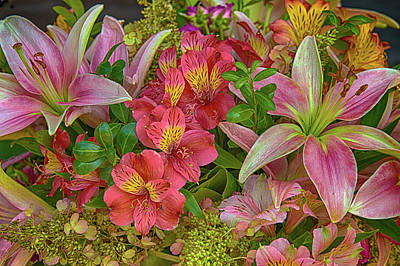 Alstrom And Lilies Art Print