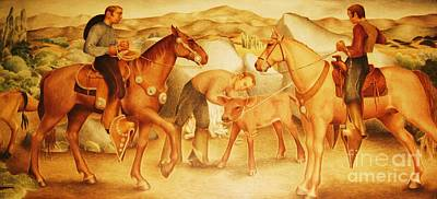 Depression Painting - Alta California Rancheros by Pg Reproductions