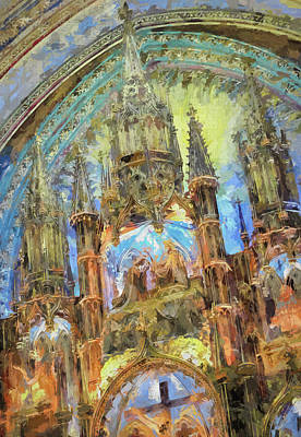 Book Quotes - Altar at Notre Dame Basilica by Francis Sullivan