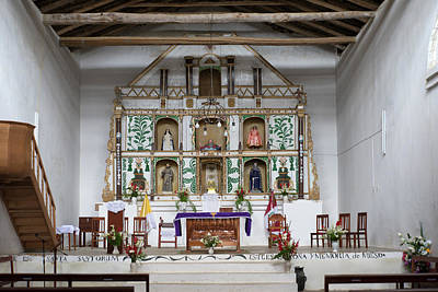 Digital Art - Altar In The Huancas Church by Carol Ailles