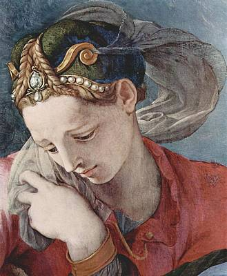 Female Painting - Altar Of The Chapel Of Eleonora Da Toledo Scene From The Cross by Celestial Images