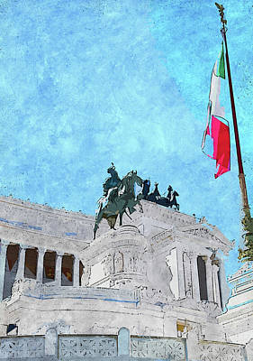 Painting - Altar Of The Fatherland, Rome - 02  by Andrea Mazzocchetti