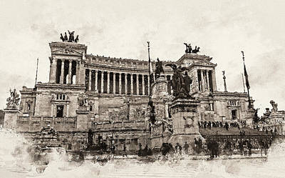 Painting - Altar Of The Fatherland, Rome - 03 by Andrea Mazzocchetti