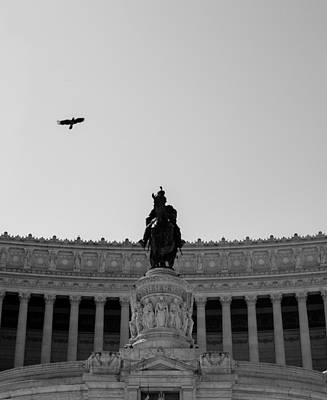 Roman Photograph - Altar Of The Fatherland - Rome - Italy 4 by Andrea Mazzocchetti