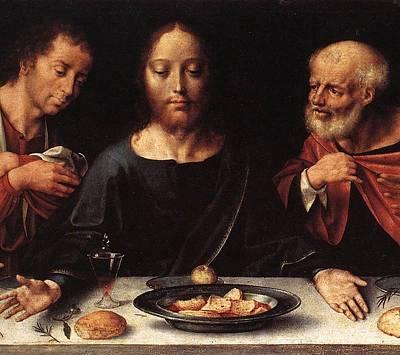 Prophet Mixed Media - Altarpiece Of The Lamentation by Joos van Cleve