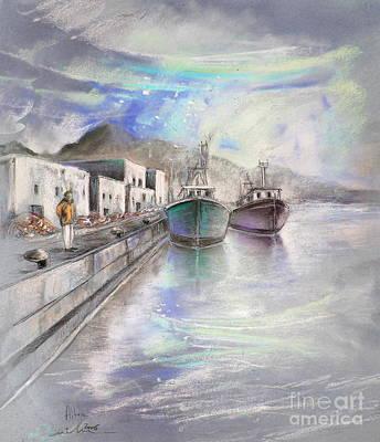 Altea Painting - Altea Harbour On The Costa Blanca 01 by Miki De Goodaboom