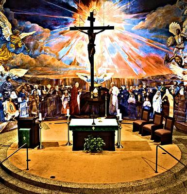 Crusifix Photograph - Alter And Art In Catholic Church by Richard Jenkins