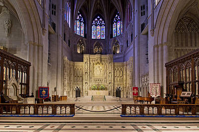 Stainglass Photograph - Alter At The Washington National Cathedral by Brendan Reals