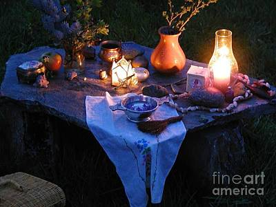 Photograph - Alter Style Table by R Muirhead Art