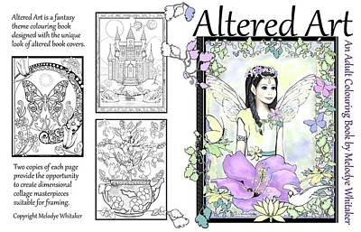 Digital Art - Altered Art Adult Coloring Book by Melodye Whitaker
