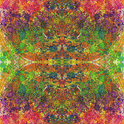 Fireworks Mixed Media - Altered States Of Consciousness #1533 by Rainbow Artist Orlando L aka Kevin Orlando Lau