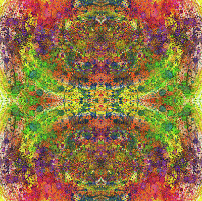 Fireworks Mixed Media -  Altered States Of Consciousness #1539 by Rainbow Artist Orlando L aka Kevin Orlando Lau