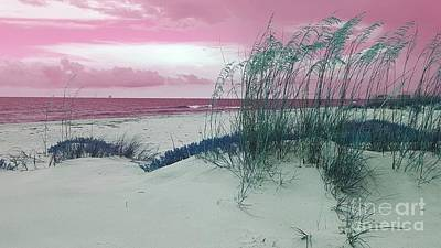 Digital Art - Alternate Beachscape  by Rachel Hannah