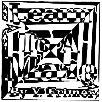 Alphabet Mazes Drawing - Alternate Book Cover Maze by Yonatan Frimer Maze Artist