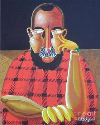 Painting - Alternative Reality In A Still Life Le Penseur by David G Wilson