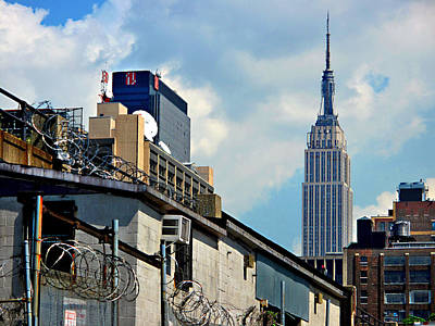 Alternative View Of Empire State Building Print by JoAnn Lense