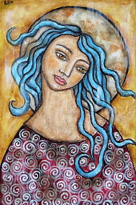 Christian Art . Devotional Art Painting - Altessa by Rain Ririn