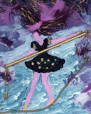 Positive Attitude Painting - Althea Balances Her Life After Chemo by Annette McElhiney