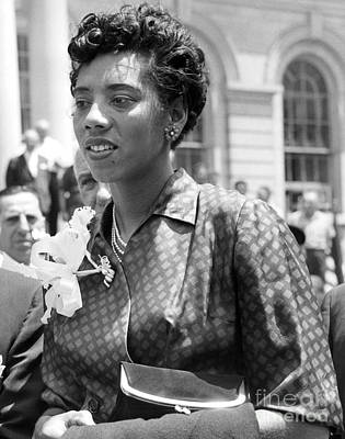 Althea Photograph - Althea Gibson, First African American Woman To Win A Grand Slam Title. 1957 by Anthony Calvacca