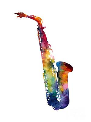 Alto Sax Art Print by Hailey E Herrera