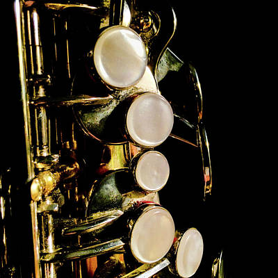 Photograph - Alto Sax Keys by Optical Playground By MP Ray