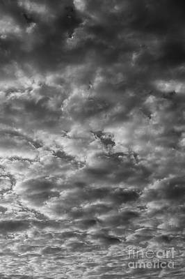 Photograph - Altocumulus Clouds Patterns by Jim Corwin