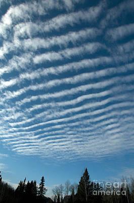 Photograph - Altocumulus Undulatus Clouds by Stephen J Krasemann