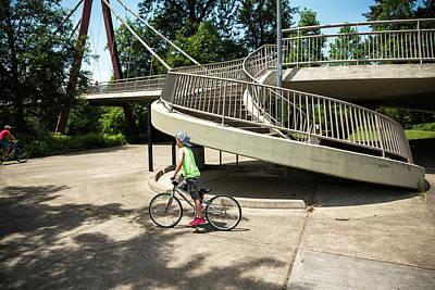 Photograph - Alton Baker Park Pedestrianbridge by Tom Cochran