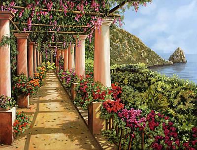 Promenade Painting - Altre Colonne Sul Golfo by Guido Borelli