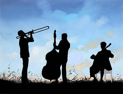 Mardi Gra Painting - Altro Trio by Guido Borelli