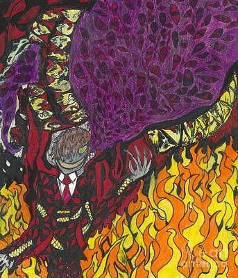 Drawing - Alucard Inferno by Artists With Autism Inc