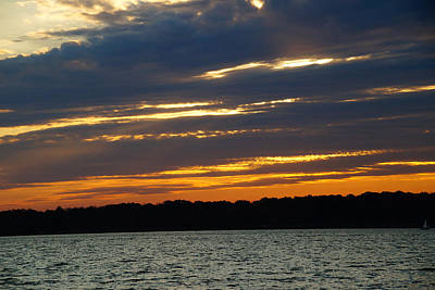 Alum Creek Sunset Art Print