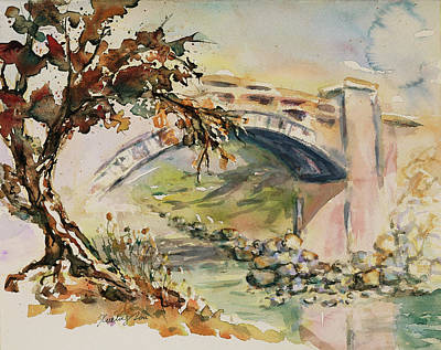 Painting - Alum Rock Park California Landscape 5 by Xueling Zou