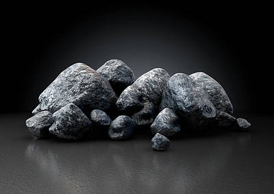 Aluminum Nugget Collection Art Print by Allan Swart