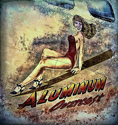 Digital Art - Aluminum Overcast Nose Art by Louis Ferreira