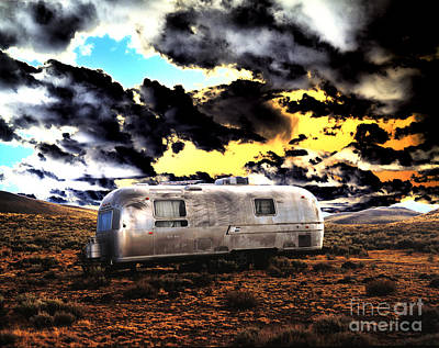 Photograph - Aluminum Trailer In The Desert by Jim And Emily Bush