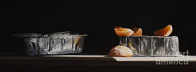 Aluminum Painting - Aluminum With Clementine by Larry Preston