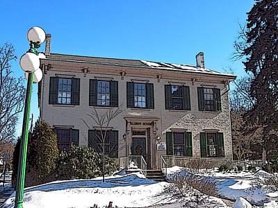 Bucknell Photograph - Alumni House At Bucknell by Ronald Fleischer