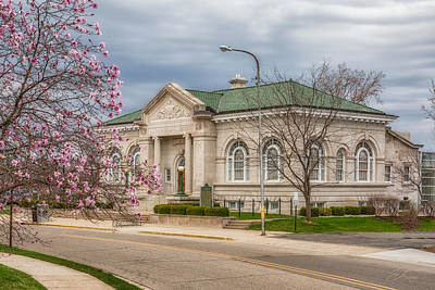 Wall Art - Photograph - Alvah N Belding Library Belding Michigan Historic Building by J Thomas