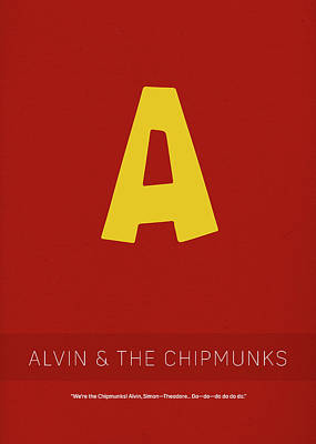 Chipmunks Wall Art - Mixed Media - Alvin And The Chipmunks My Favorite Tv Shows Series 011 by Design Turnpike