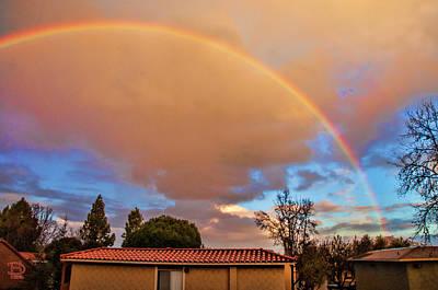 Photograph - Alvista Rainbow Sunset On Mt Helix by Daniel Hebard