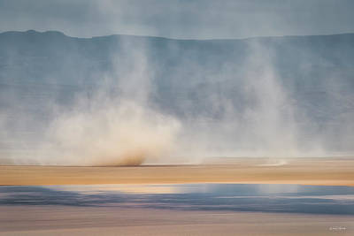 Photograph - Alvord Dust Storm by Leland D Howard