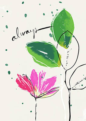 Ink Mixed Media - Always- Art By Linda Woods by Linda Woods