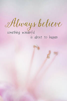 Digital Art - Always Believe by Ramona Murdock
