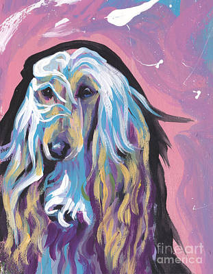 Afghan Hound Painting - Always Elegant  by Lea S