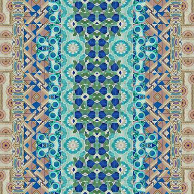 Always In Awe - T J O D Mandala Series Puzzle 5-8 Variation Art Print by Helena Tiainen