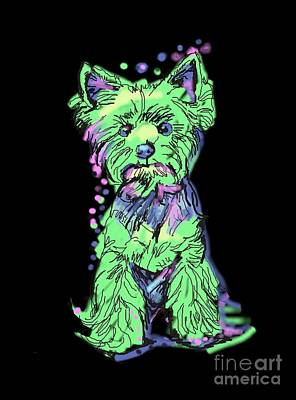 Always Keep Your Yorkie Around You Art Print by I Am Lalanny