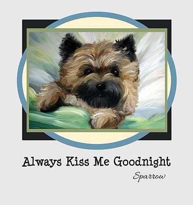 Always Kiss Me Goodnight Art Print
