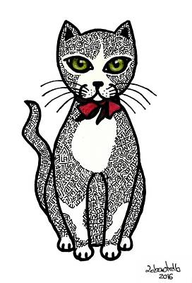 Drawing - Always Looking For A Lovely Kitten by Madalena Lobao-Tello